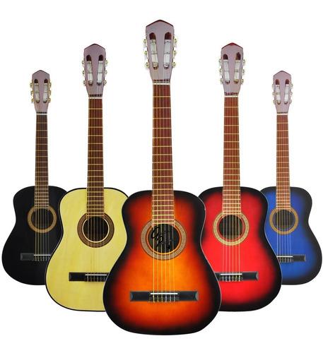Guitarra Criolla Niño Mediana 3/4 Colores Envio Gratis