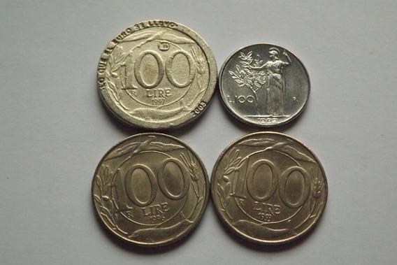 Italia- 100 Liras 1992,1993,1996 E 1997 Raras