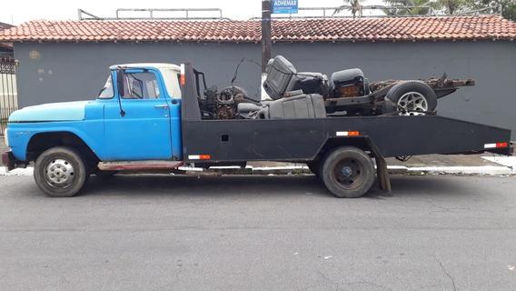Guincho Ford F600 Plataforma Fixa Ano 71 Trabalhando