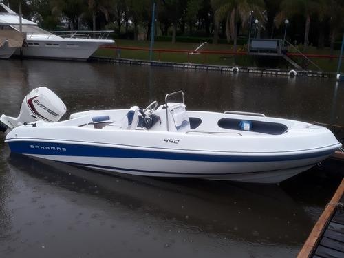 Lancha Bahamas Fisher 490 Okm Sin Motor