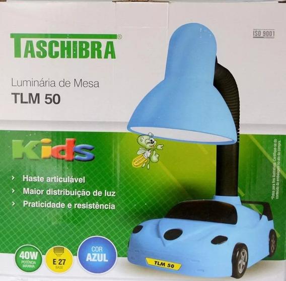 Luminária De Mesa Taschibra Tlm 50 Kids Carrinho Azul Bivolt