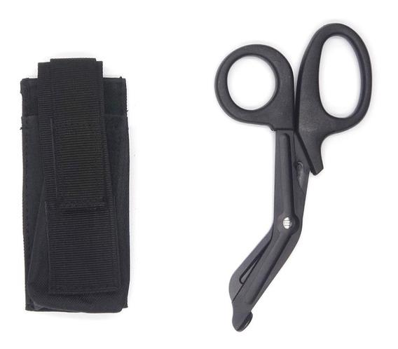 Porta Torniquete Molle De Nylon Con Tijeras Negro
