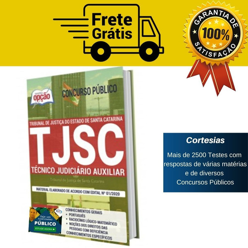 Apostila Técnico Judiciário Auxiliar Tj Sc Santa Catarina