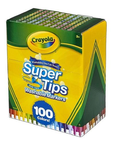 Crayola Super Tips Wasable Markers Marcadores X 100 Envío Ya