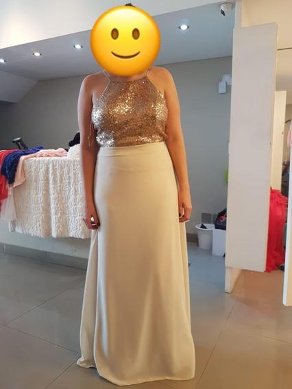 Vestido Largo Elegante De Fiesta - Talle M/l