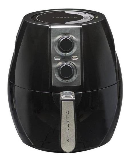 Fritadeira sem óleo Agratto Fryer preta 110V