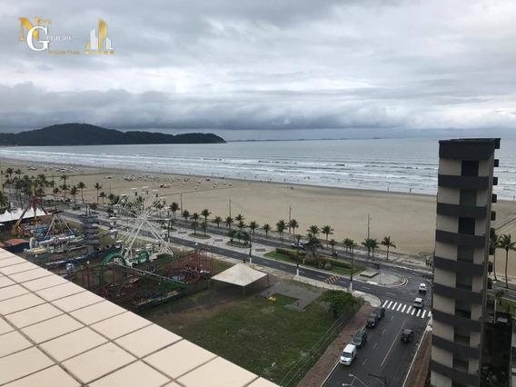 Kitnet Com Sacada E Elevador A 50m Da Praia Na Aviação - Kn0263