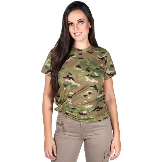 Camiseta Soldier Feminina Camuflada Multicam
