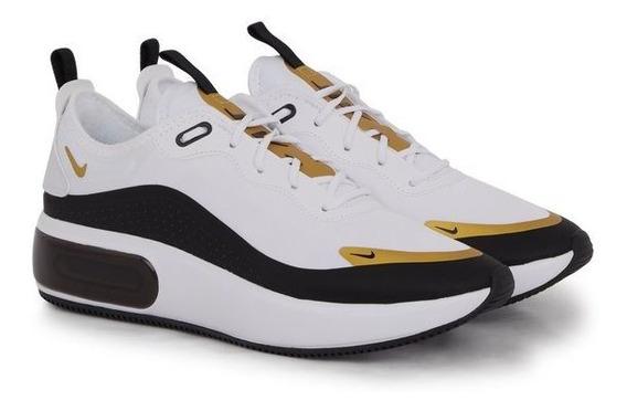 Tenis Nike Air Max Dia Blanco,dorado, Negro