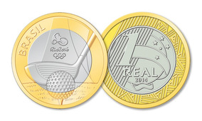 Moeda Comemorativa Olimpíadas Rio2016 Golfe