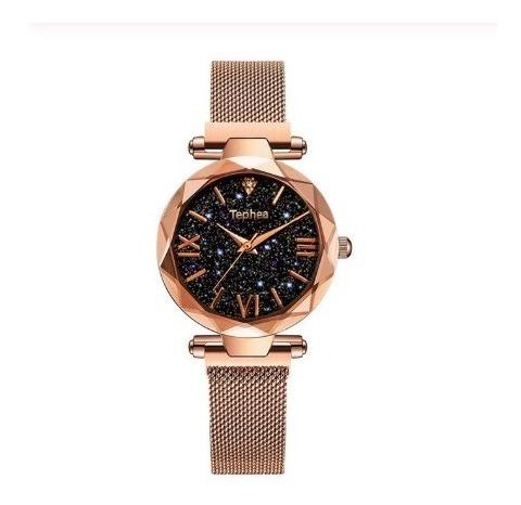 Relógios De Luxo Céu Estrelado Relógio Feminino De Quartzo