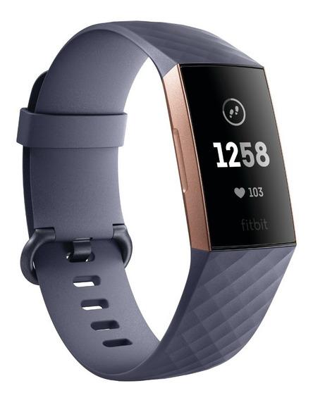 Reloj Fitbit Charge 3 Rastreador De Actividad Física Gris