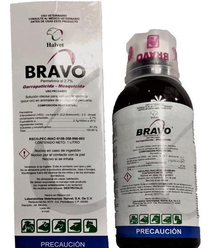 Bravo 1l Anti Garrapatas Aves, Vacas, Ovejas, Cerdos Halvet
