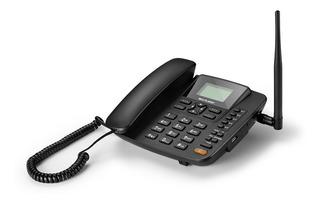 Telefone Fixo Celular Rural De Mesa Antena 5 Band 3g Sem Fio