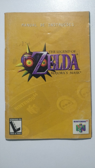 Manual Jogo The Legend Of Zelda Majoras Mask Português N64
