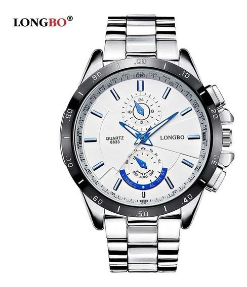 Relógio Longbo 8833 White, Inox Prova D