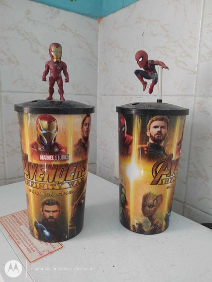 Colección De Vasos De Avengers End Game Cinemex