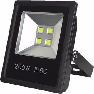 Reflector Led 200w 4 Pastillas Luz Blanca O Calida Exterior