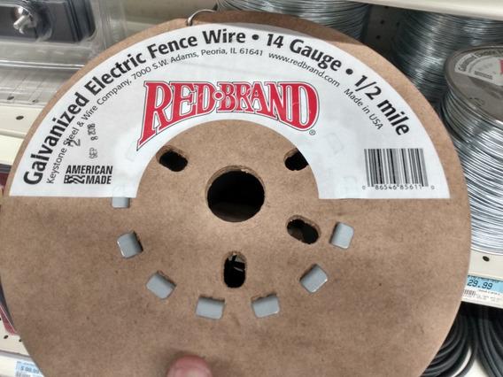 Redbrand Cable Galvanizado 14 Cerco Ganadero Electrico 800m