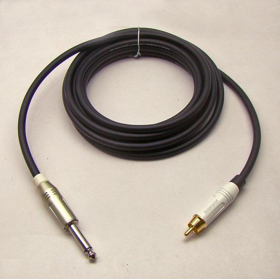 Cabo De Áudio P10 Mono X Rca Amphenol Kit 2 Pçs 2 M