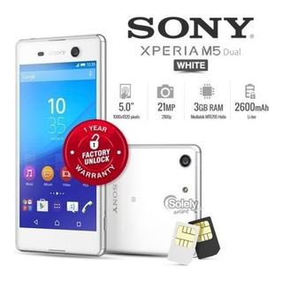 Nuevo Desbloqueado Sony Xperia M5 E5663 Doble Blanco 5-inch