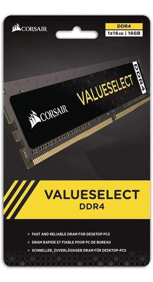 Memoria Corsair Valueselect 16gb 1x16 Ddr4 2400mhz Com Nf