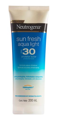Protetor Solar Neutrogena Sun Fresh Aqua Light Fps 30 200ml