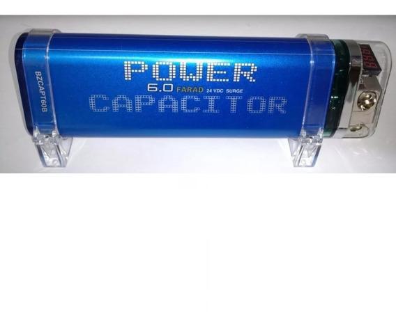 Mega Capacitor Blitz 6 Farad Para Até 8000watts Rms Digital