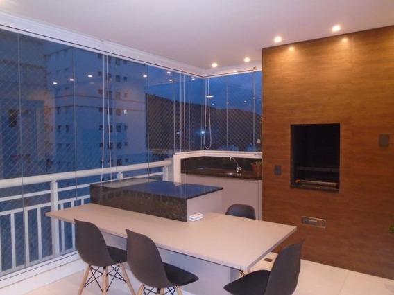 Apartamento Com Varanda Gourmet 3 Dormitórios , 150 M² Por R$ 880.000 - Marapé - Santos/sp - Ap4429