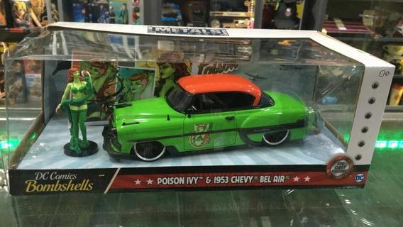 Jada 1:24 Metals Die-cast Poison Ivy & 1953 Chevy Bel Air