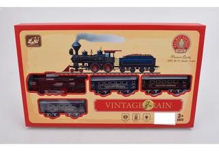 Pista De Trenes Vintage C/luz Y Sonido 18 Ps 1880149