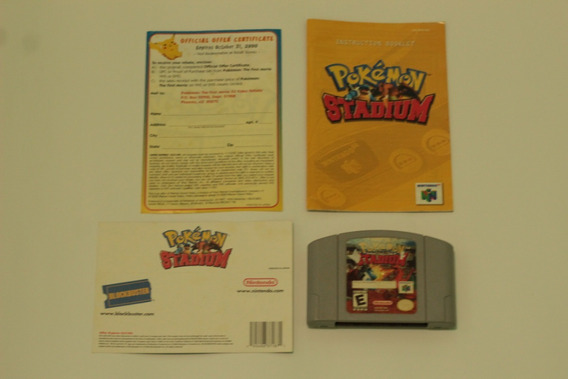 Pokemon Stadium + Manual+panfletos Original Nintendo 64 N64