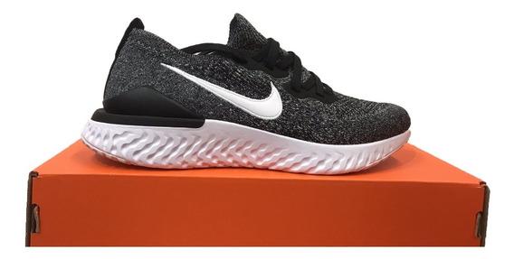 Tênis Nike Epic React Flyknit 2 Cinza E Preto Original