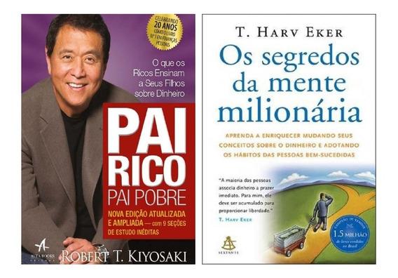 Livro Os Segredos Da Mente Milionária E Pai Rico Pai Pobre