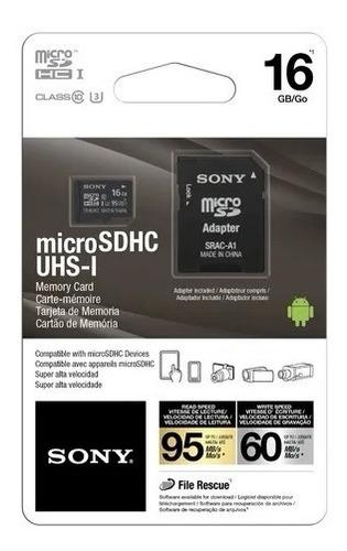 Cartão Memória Micro Sd 16gb Sony Class 10 95mb/s