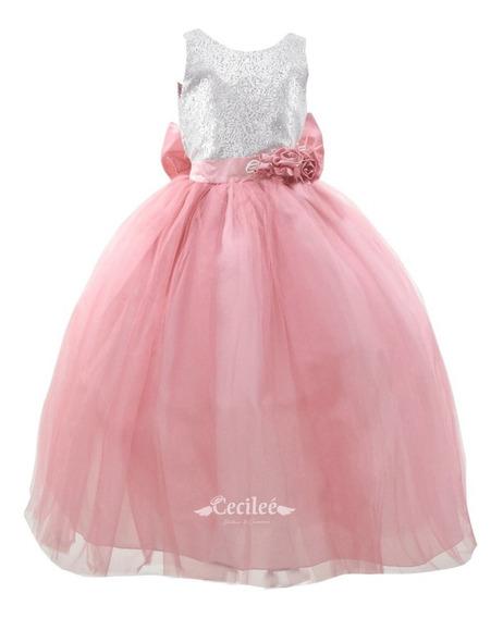 Hermoso Vestido Elegante De Ceremonia Niña Karina