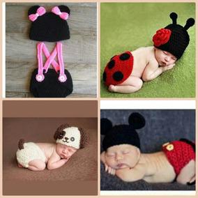 Kit 4 Conjunto Crochê Bebê Newborn