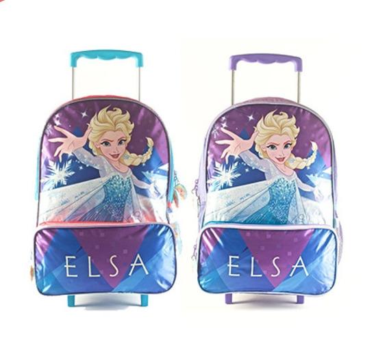 Mochila Carrito Frozen Elsa 16p Mundo Moda Kids 88303
