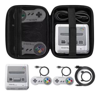 Snes Y Nes Classic Mini: Estuche Funda Rigida Protectora Para Cuidar Y Transportar Consola Y Juegos
