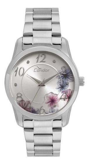 Kit Relógio Feminino Prateado Condor Co2039au/k3k