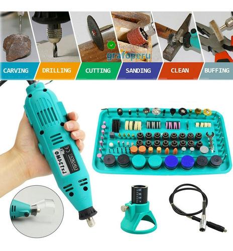 Mini Torno Micro Motor Taladro Multiproposito 130w + 227 Pcs