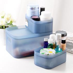 Cosméticos Maquillaje Manicura Organizador... (blue, M (.)