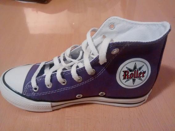 Zapatillas Botitas Violeta Tipo John Foos Converse All Stars