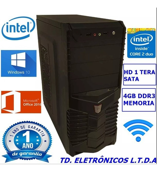 Cpu Completa Core2duo /4gb Ddr3 /hd 1 Tera /wifi
