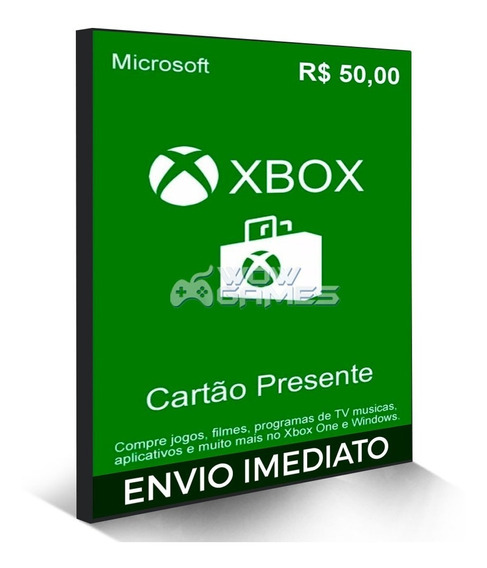 Microsoft Gift Card 50 Reais Cartão Presente Br Xbox Live