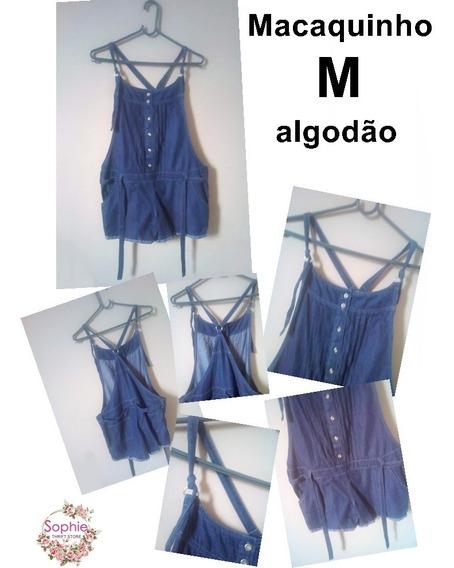 Macaquinho Gestante Azul Marinho Algodão M