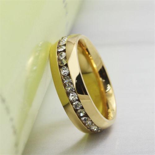 Anel Aliança Noivado Compromisso Debutante Cravejada Pedras