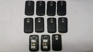 Lote Com 11 Celulares Da Marca Blackberry 9000 Com Defeito