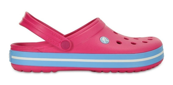 Crocs Crocband Originales Candy Pink Bluebell Fucsia Mujer