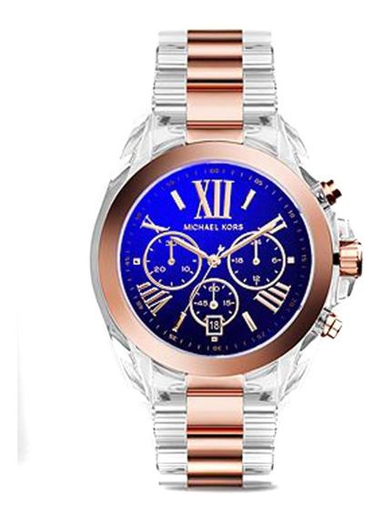 Relógio Michael Kors Mk5950 Orig Chron Anal Acrylic&ororosé